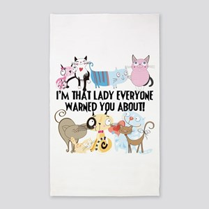 That Cat Lady 3'x5' Area Rug