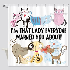 That Cat Lady Shower Curtain