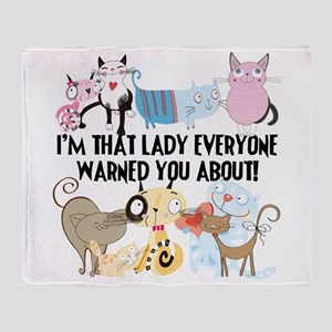 That Cat Lady Throw Blanket