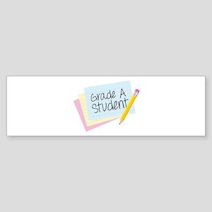 Grade A Student Bumper Sticker