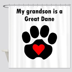 My Grandson Is A Great Dane Shower Curtain