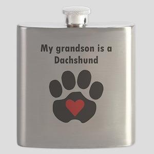 My Grandson Is A Dachshund Flask