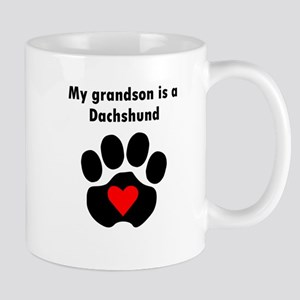 My Grandson Is A Dachshund Mugs