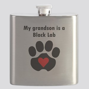 My Grandson Is A Black Lab Flask