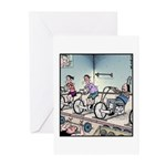 Gym exercise Easy Rider Greeting Cards