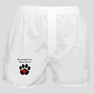 My Grandson Is A Basset Hound Boxer Shorts