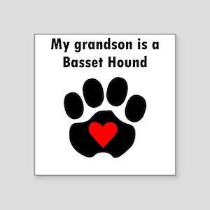 My Grandson Is A Basset Hound Sticker