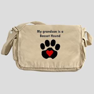 My Grandson Is A Basset Hound Messenger Bag