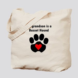 My Grandson Is A Basset Hound Tote Bag