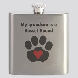 My Grandson Is A Basset Hound Flask