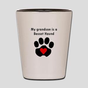 My Grandson Is A Basset Hound Shot Glass