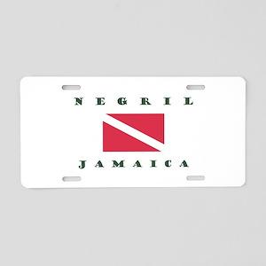 Negril Jamaica Scuba Aluminum License Plate
