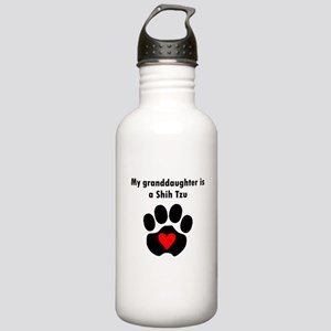 My Granddaughter Is A Shih Tzu Water Bottle