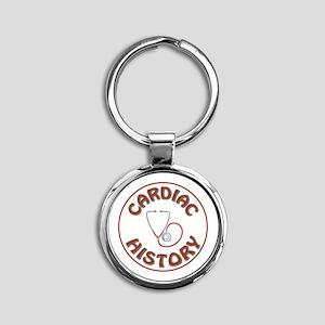 CARDIAC HISTORY Round Keychain