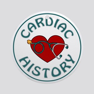 CARDIAC HISTORY Ornament (Round)