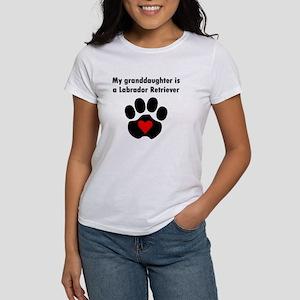 My Granddaughter Is A Labrador Retriever T-Shirt