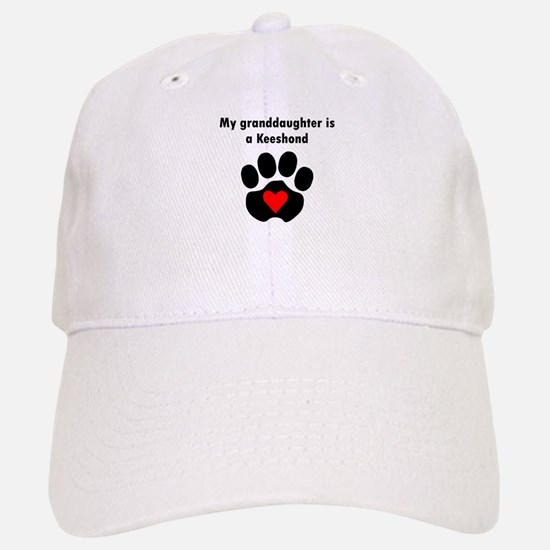 My Granddaughter Is A Keeshond Baseball Baseball Baseball Cap