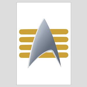 Alt Starfleet Captain Insignia Large Poster