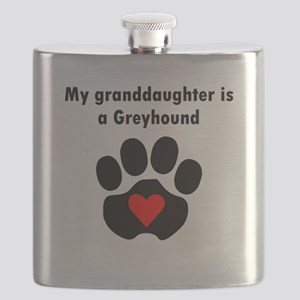 My Granddaughter Is A Greyhound Flask
