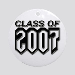 Class of 2007 Gothic Ornament (Round)