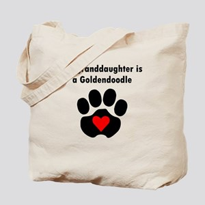 My Granddaughter Is A Goldendoodle Tote Bag