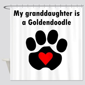My Granddaughter Is A Goldendoodle Shower Curtain