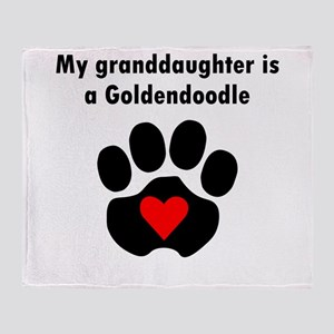 My Granddaughter Is A Goldendoodle Throw Blanket
