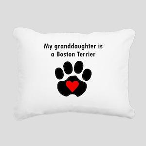 My Granddaughter Is A Boston Terrier Rectangular C