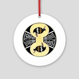 MIMBRES QUAILS BOWL DESIGN Ornament (Round)