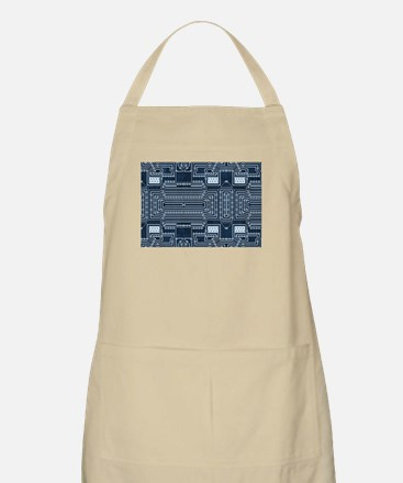 Blue Geek Motherboard Circuit Pattern Light Apron