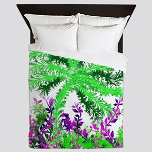 palm in the thicket, Queen Duvet