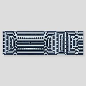 Blue Geek Motherboard Circuit Patte Bumper Sticker