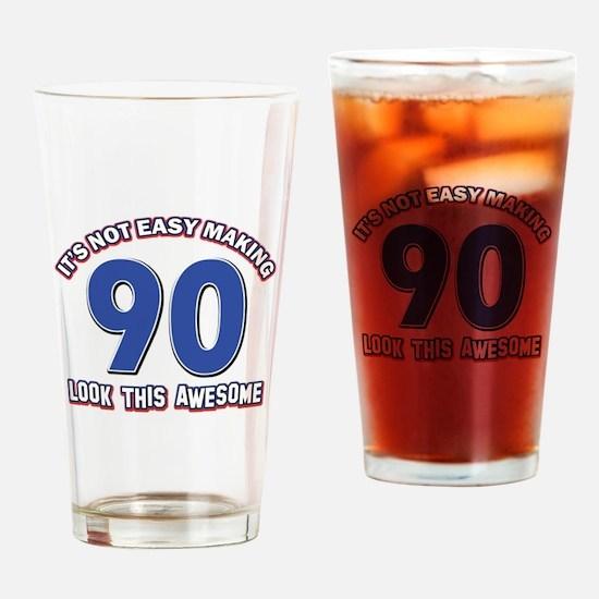 90 year old birthday designs Drinking Glass