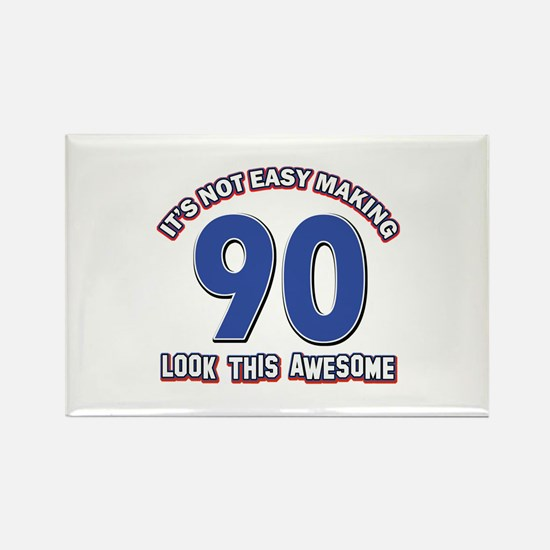 90 year old birthday designs Rectangle Magnet