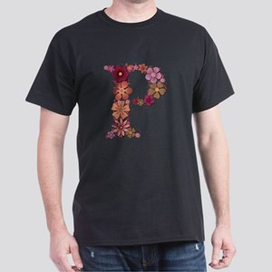 P Pink Flowers T-Shirt