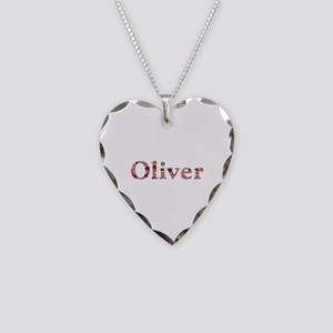 Oliver Pink Flowers Heart Necklace