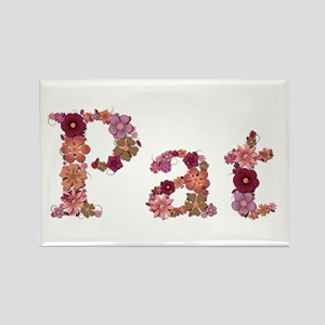 Pat Pink Flowers Rectangle Magnet