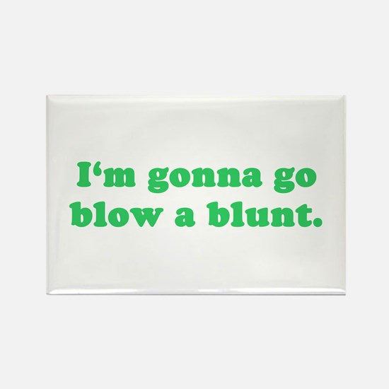 Blow a Blunt Rectangle Magnet