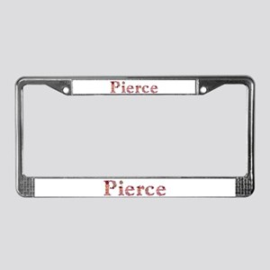 Pierce Pink Flowers License Plate Frame