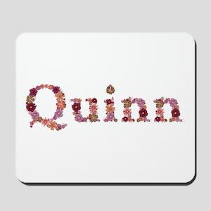 Quinn Pink Flowers Mousepad