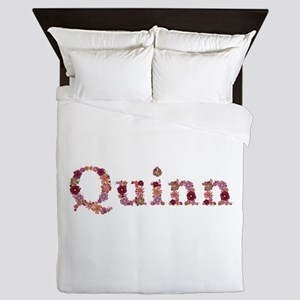 Quinn Pink Flowers Queen Duvet