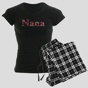 Nana Pink Flowers Pajamas
