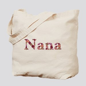 Nana Pink Flowers Tote Bag