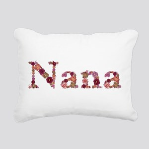 Nana Pink Flowers Rectangular Canvas Pillow