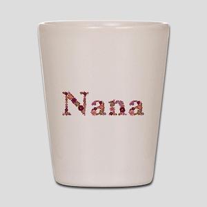Nana Pink Flowers Shot Glass
