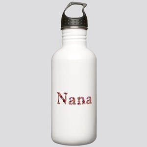 Nana Pink Flowers Water Bottle