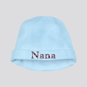 Nana Pink Flowers baby hat