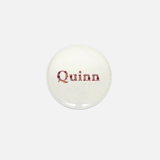 Quinn Pink Flowers Mini Button