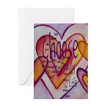 Love Hearts + Poem Words Greeting Card