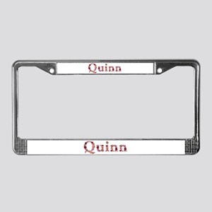 Quinn Pink Flowers License Plate Frame
